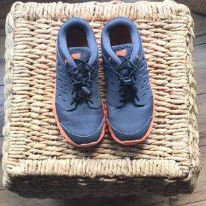Grey/Neon Orange Nikes